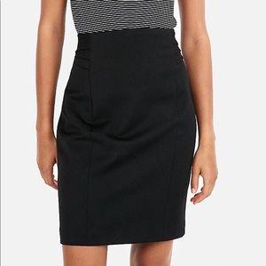 NWT EXPRESS Pencil Skirt Size 0 High Waisted Black